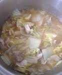 「白菜と玉ねぎ」のラーメンスープ風